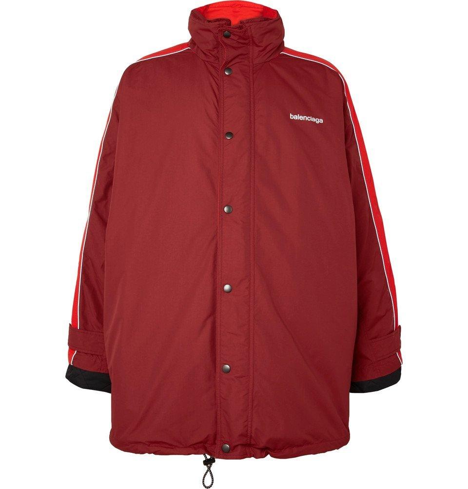 Photo: Balenciaga - Oversized Shell Jacket - Red