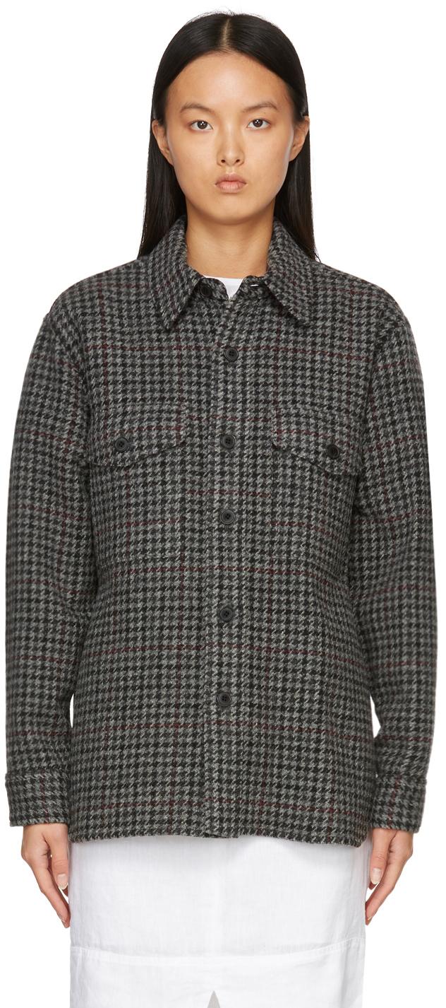Photo: Isabel Marant Etoile Grey Houndstooth Faxon Jacket