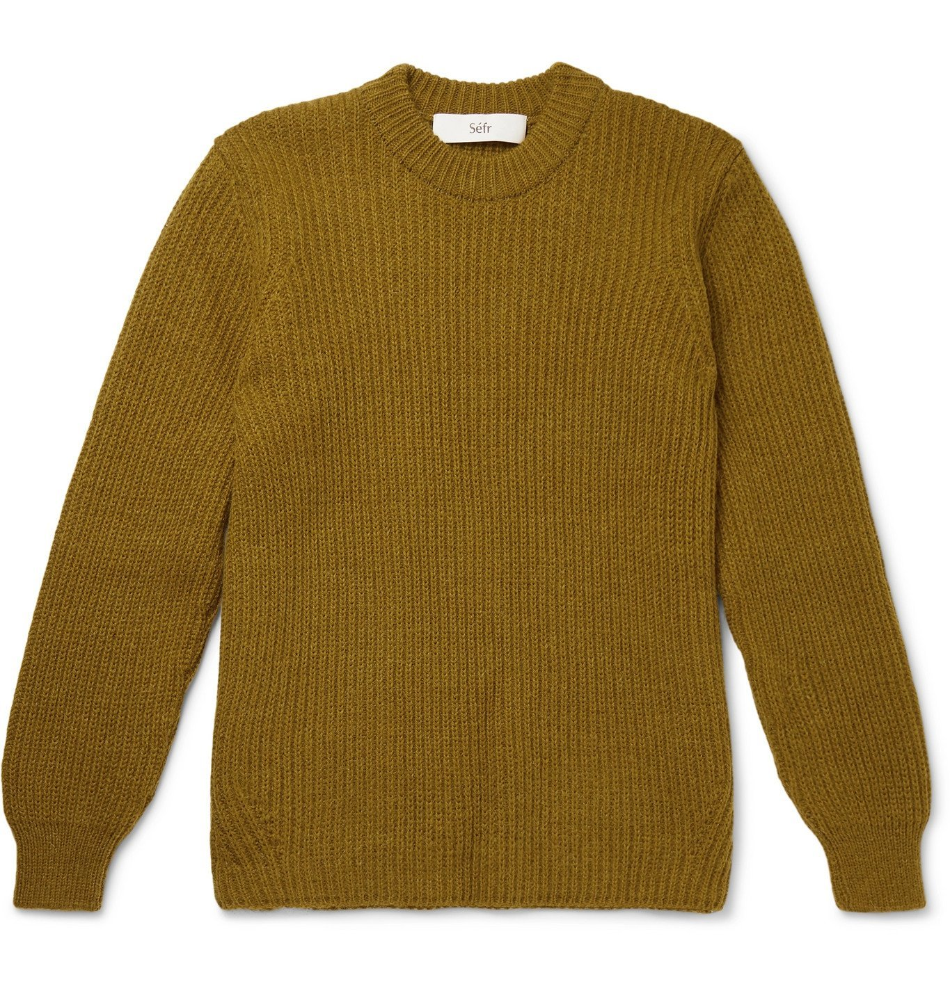 Photo: Séfr - Leth Ribbed-Knit Sweater - Green