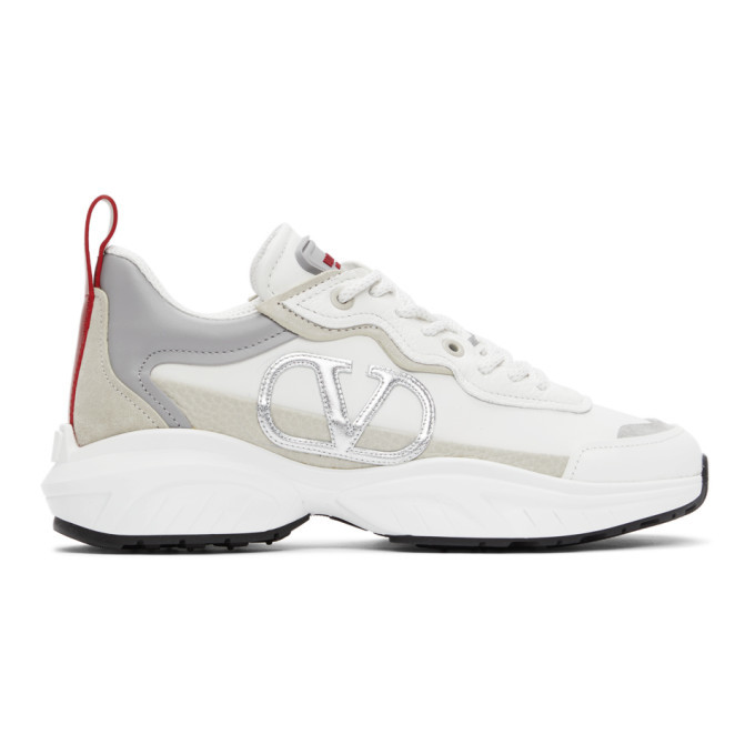 Photo: Valentino White and Red Valentino Garavani VLogo SHEGOES Sneakers
