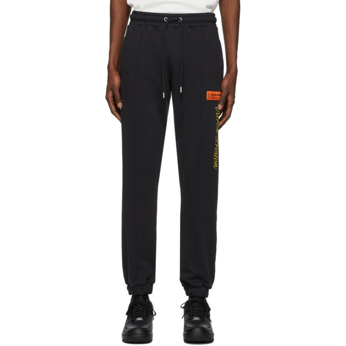 Photo: Heron Preston Black NYC Skyline Lounge Pants