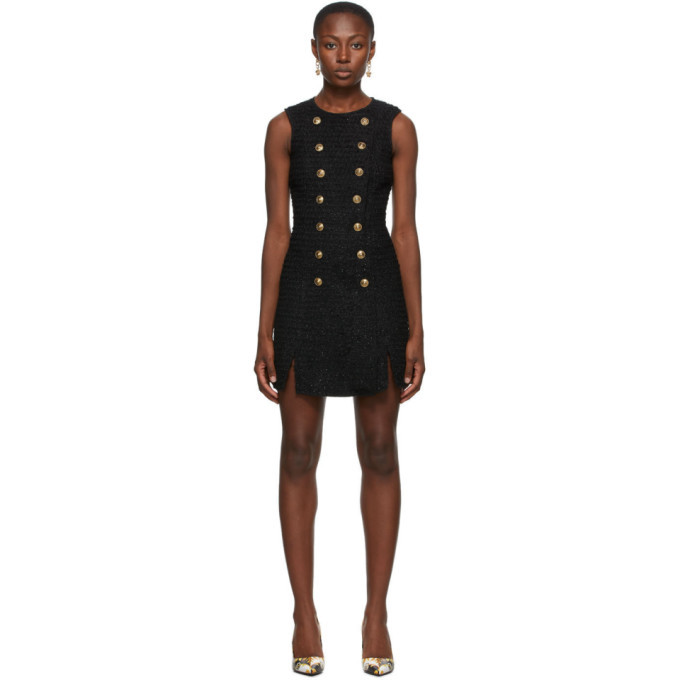Photo: Versace Jeans Couture Black Tweed Short Dress