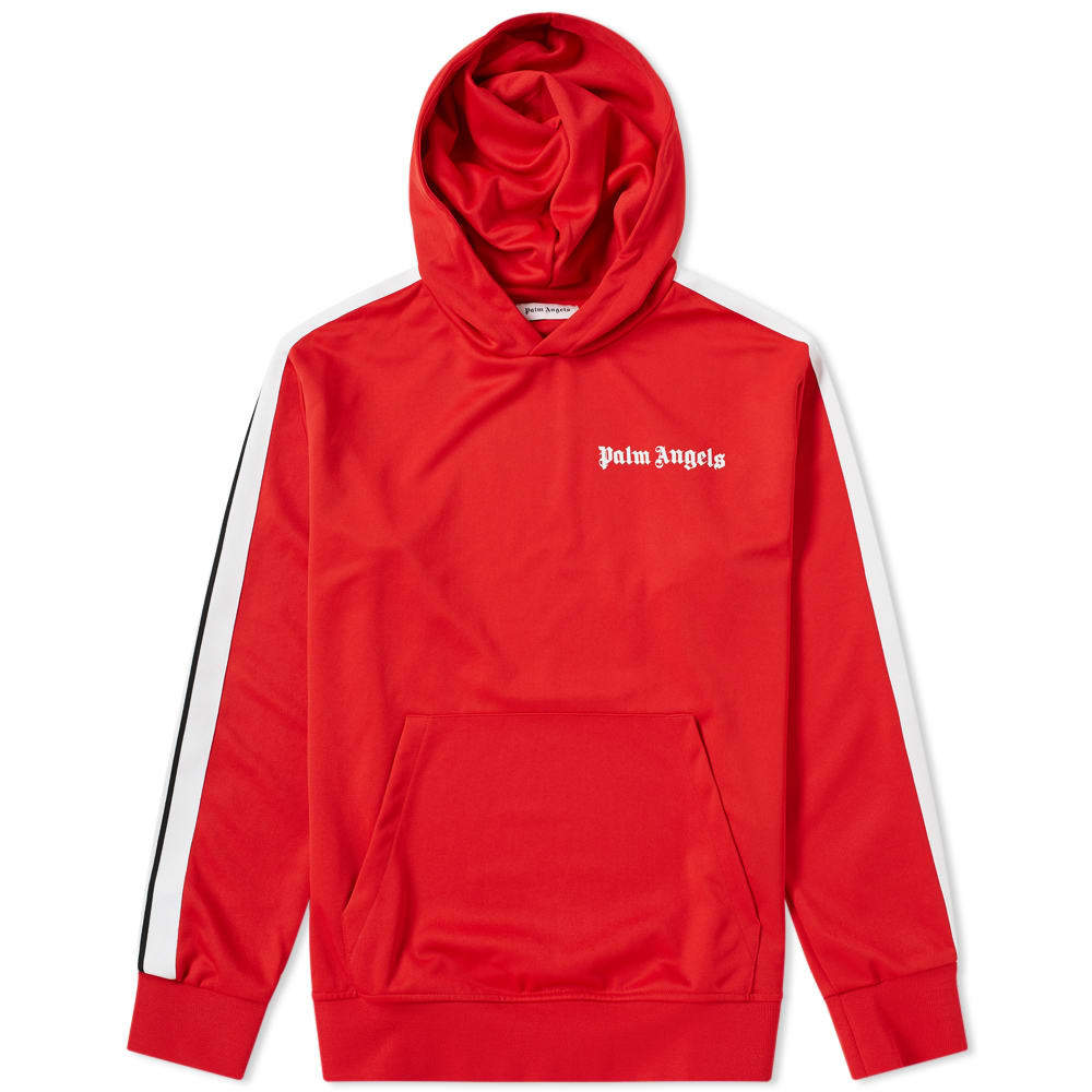 Photo: Palm Angels Taped Track Hoody Red