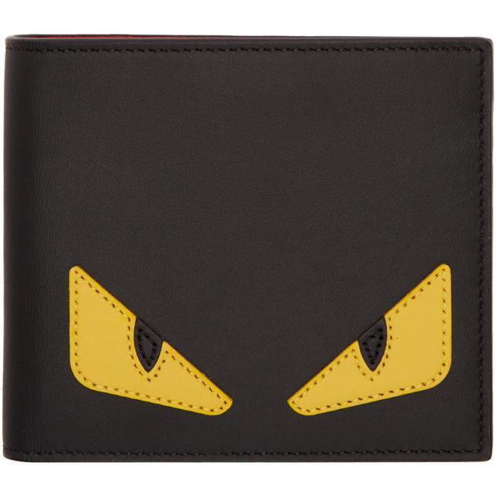 Photo: Fendi Black and Yellow Bag Bugs Wallet