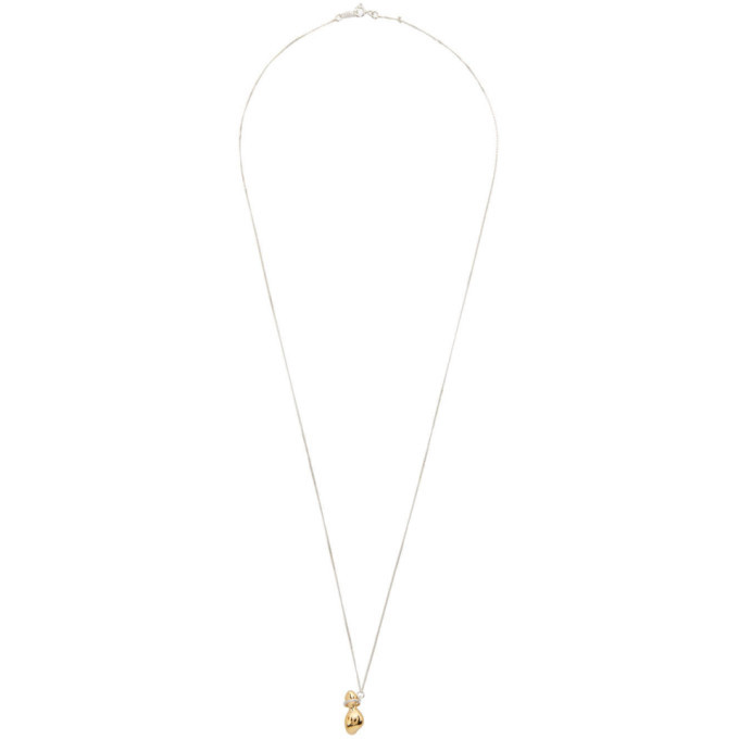 Photo: 1064 Studio Silver and Gold Shape Of Water 15N Necklace