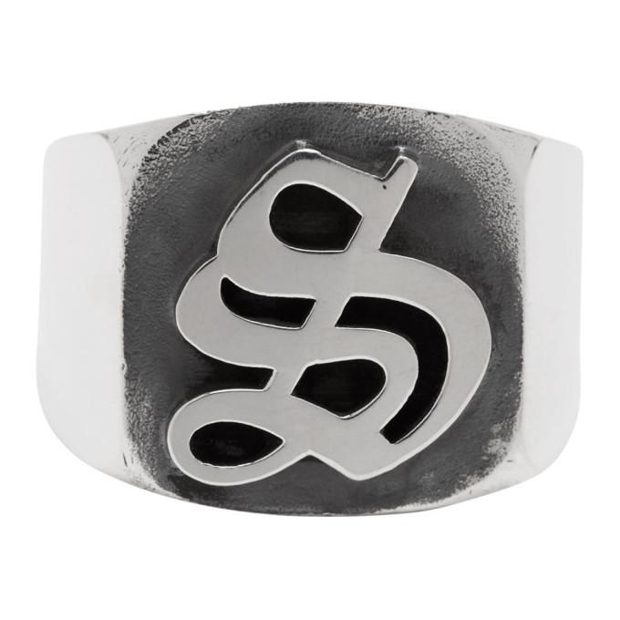 Photo: Stolen Girlfriends Club Silver Gothic Stamp Signet Ring