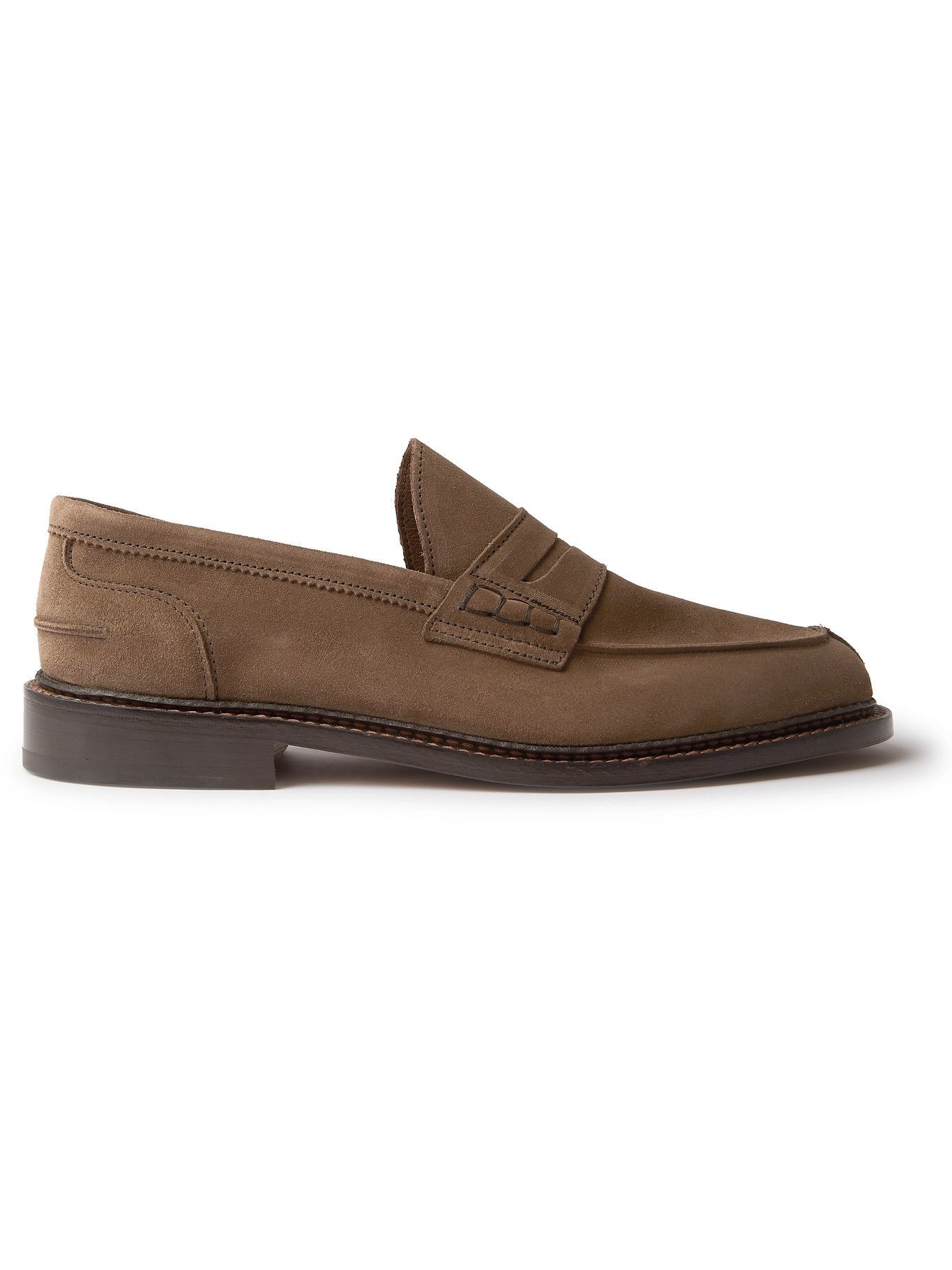 Photo: Tricker's - Adam Suede Penny Loafers - Brown