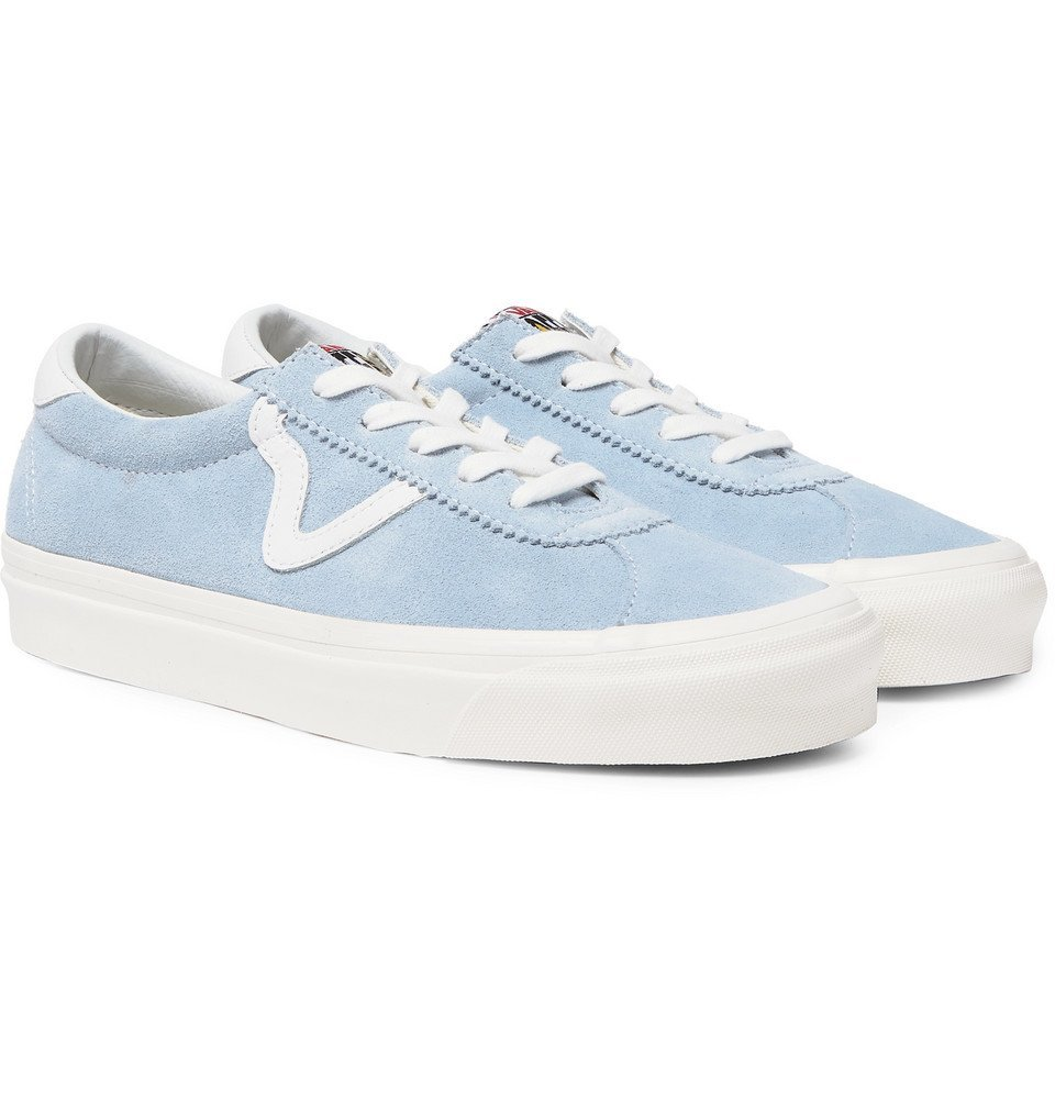 Photo: Vans - UA Style 73 DX Leather-Trimmed Suede Sneakers - Light blue