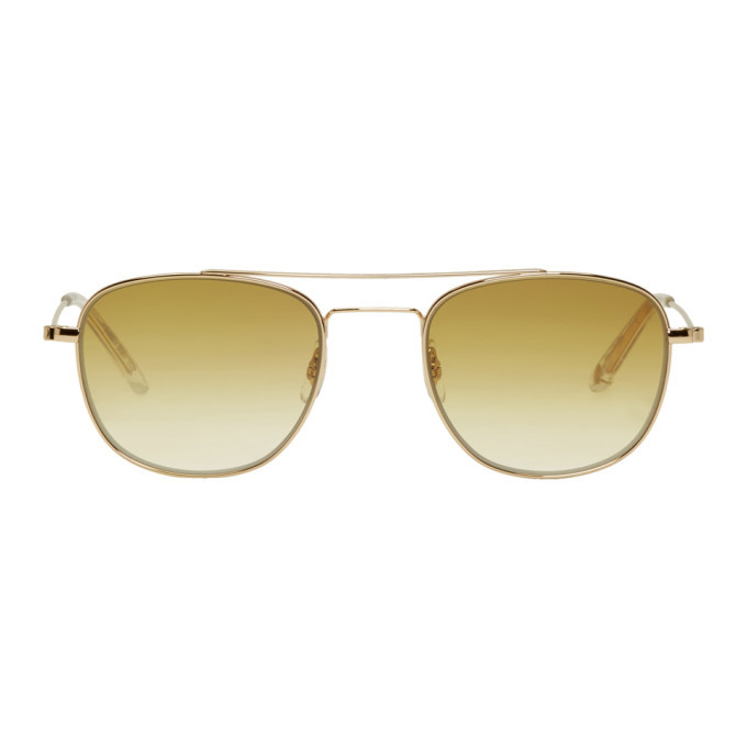 Photo: Garrett Leight Gold Club House Sunglasses