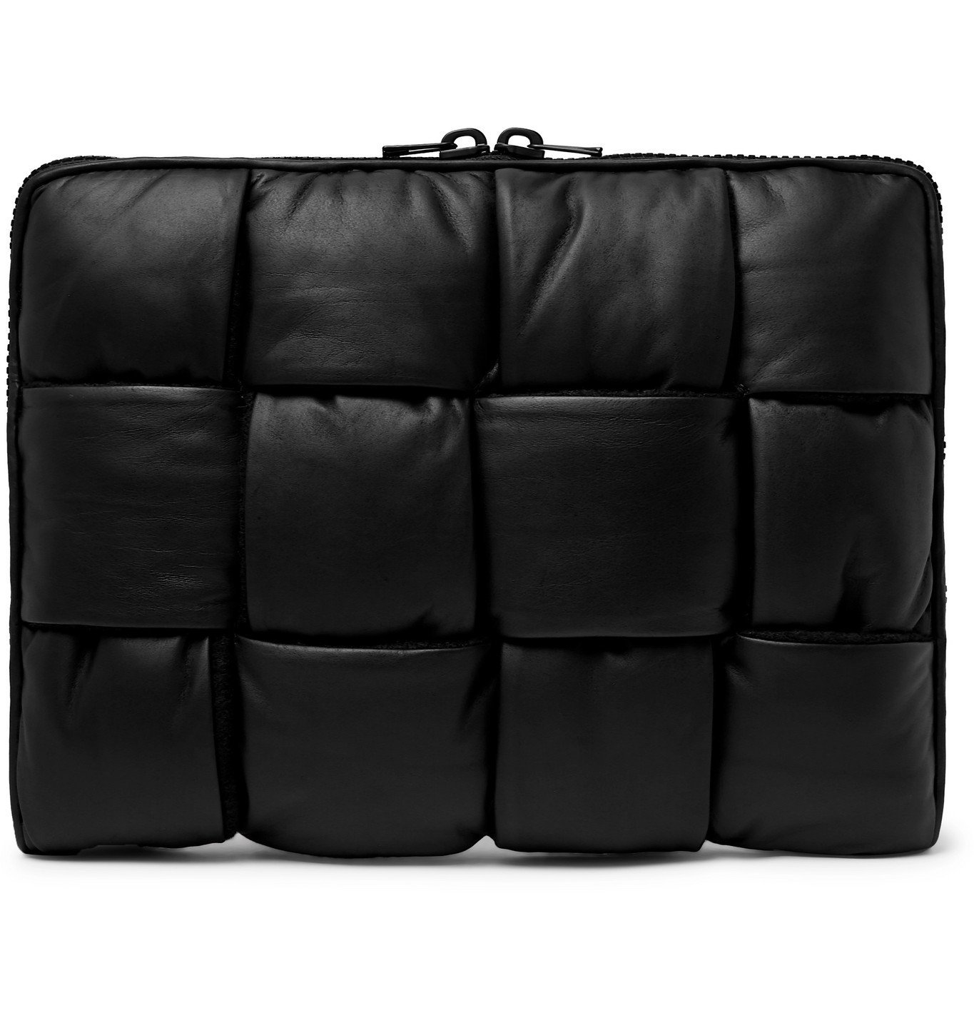 Photo: Bottega Veneta - Intrecciato Padded Leather Pouch - Black
