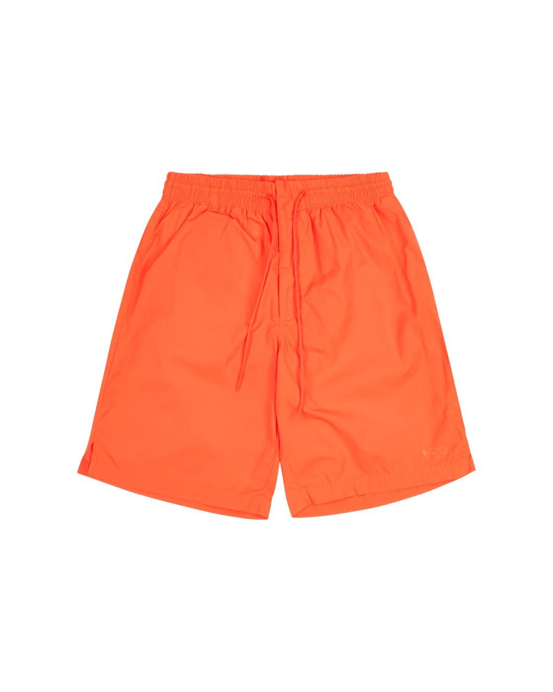 Photo: Y 3 Logo Swimshorts Solar Orange