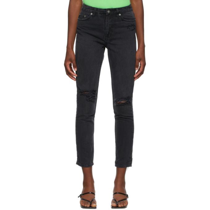 Ksubi Black Ripped Slim Pin Jeans