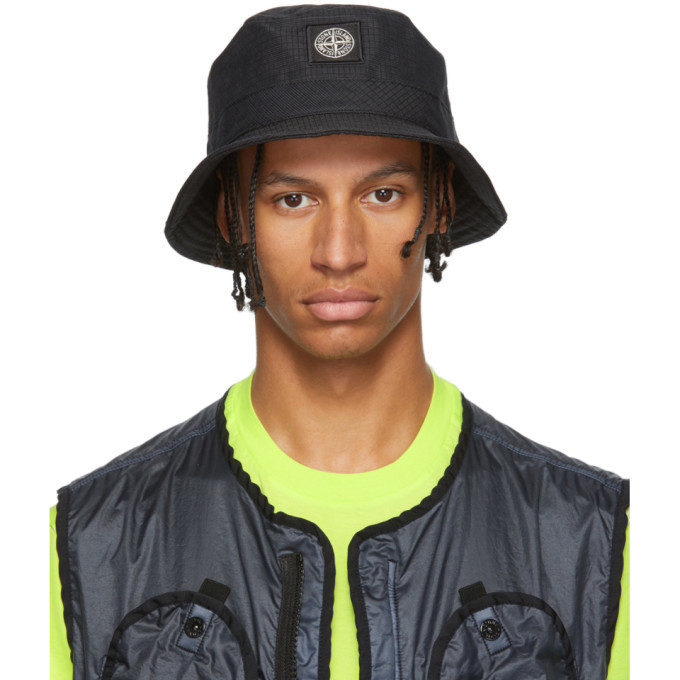 Photo: Stone Island Black Reflective Weave Ripstop Bucket Hat