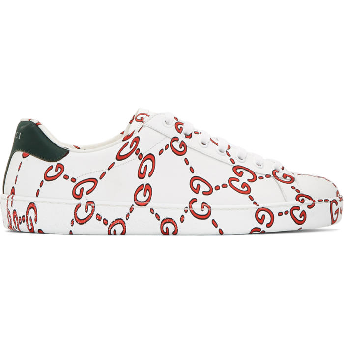 Photo: Gucci White Web Logo New Ace Sneakers