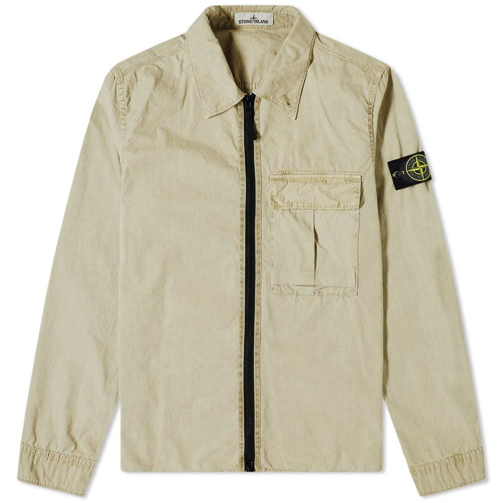 Photo: Stone Island Garment Dyed Zip Overshirt