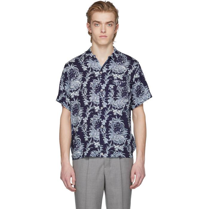 éditions M R Blue Safari Print Shirt Editions M R