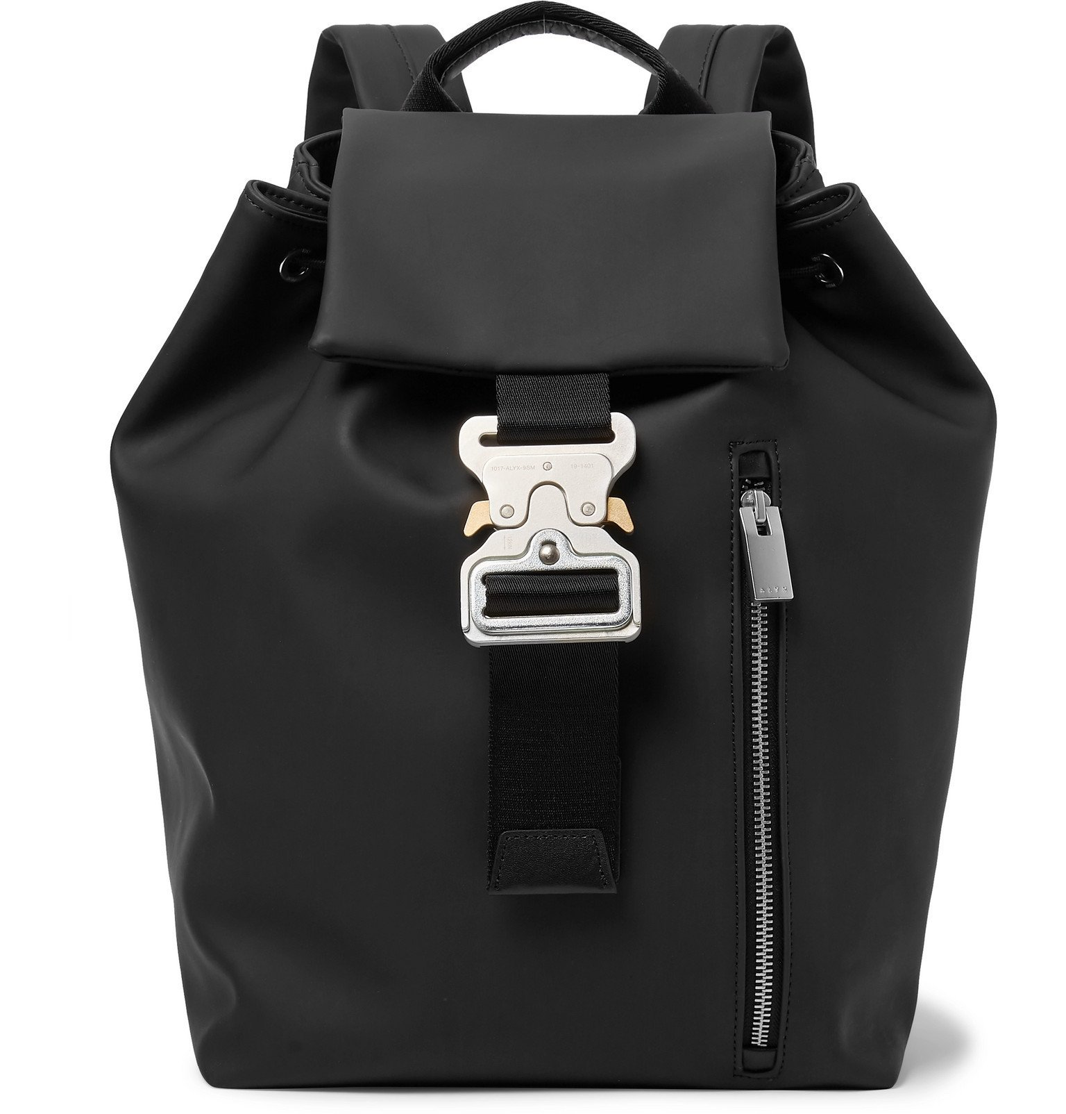 Photo: 1017 ALYX 9SM - Tank Leather-Trimmed PVC Backpack - Black