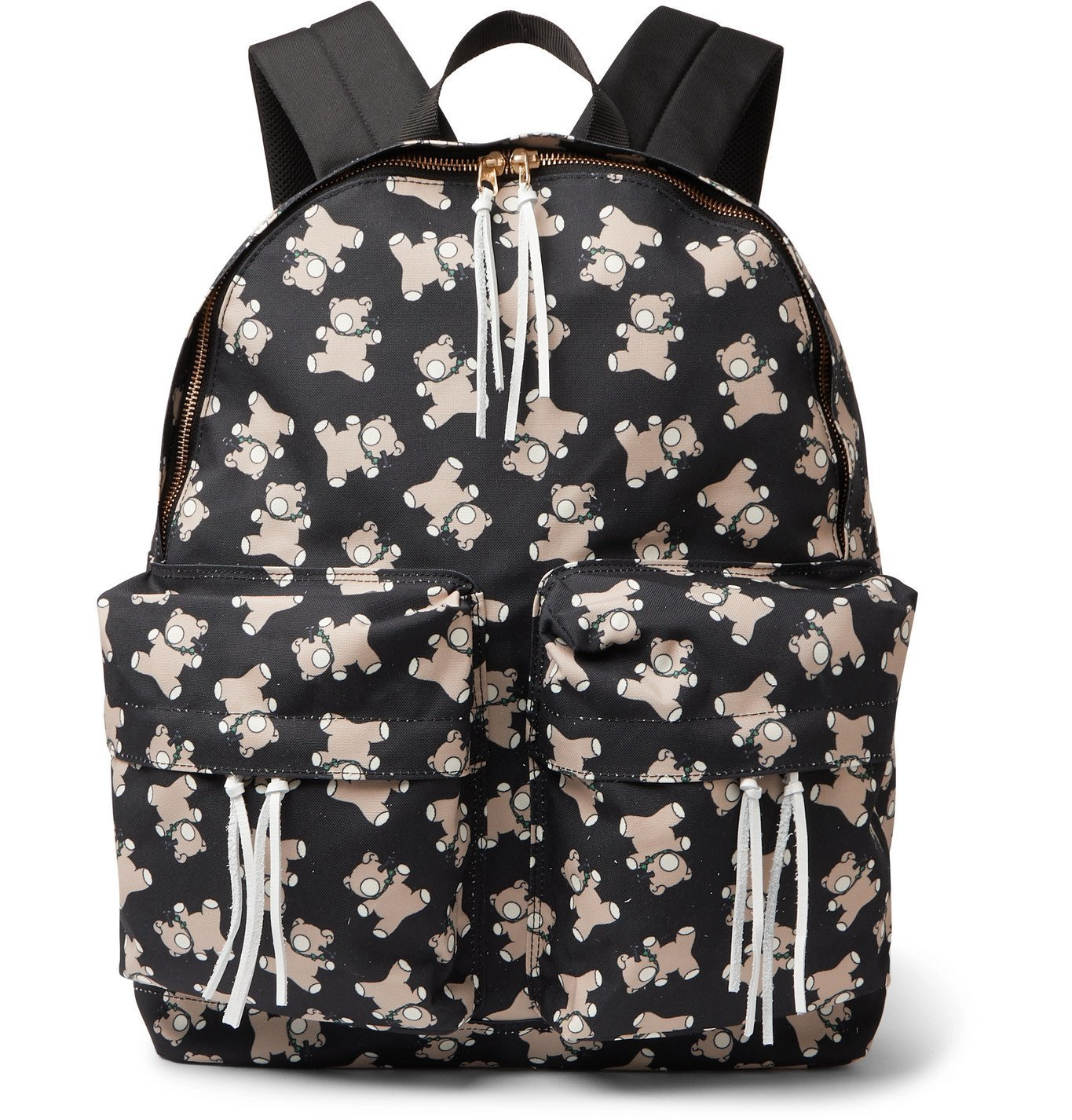 Photo: Undercover - Screwbear Printed Canvas Backpack - Black