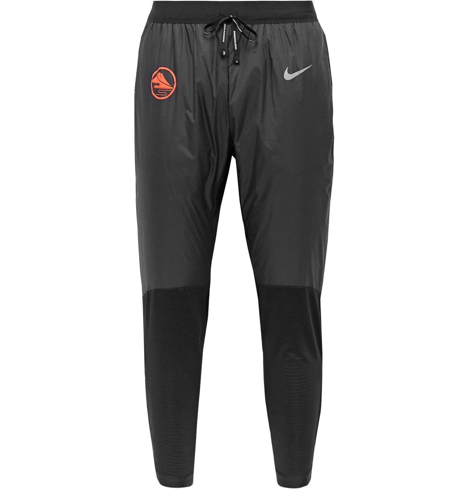 Photo: Nike Running - Phenom Elite Slim-Fit Tapered Thermore Shell and Fleece-Back Stretch-Jersey Trousers - Black