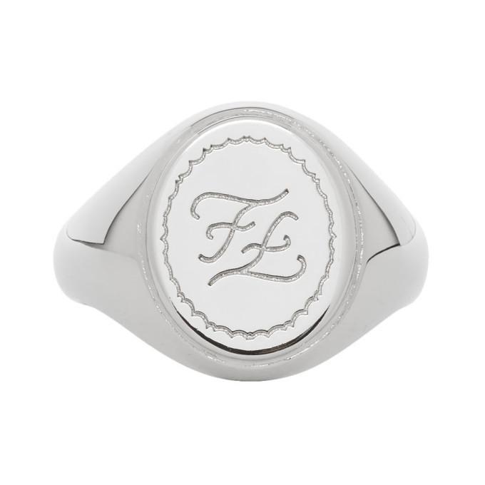 Photo: Fendi Silver Karligraphy Signet Ring