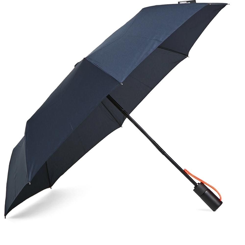Photo: London Undercover Auto-Compact Umbrella Navy & Neon