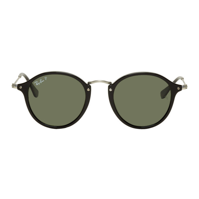 Photo: Ray-Ban Black and Silver Round Sunglasses
