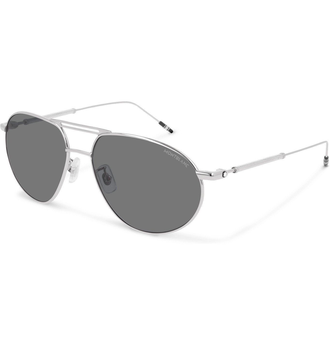 Photo: Montblanc - Aviator-Style Silver-Tone Sunglasses - Unknown