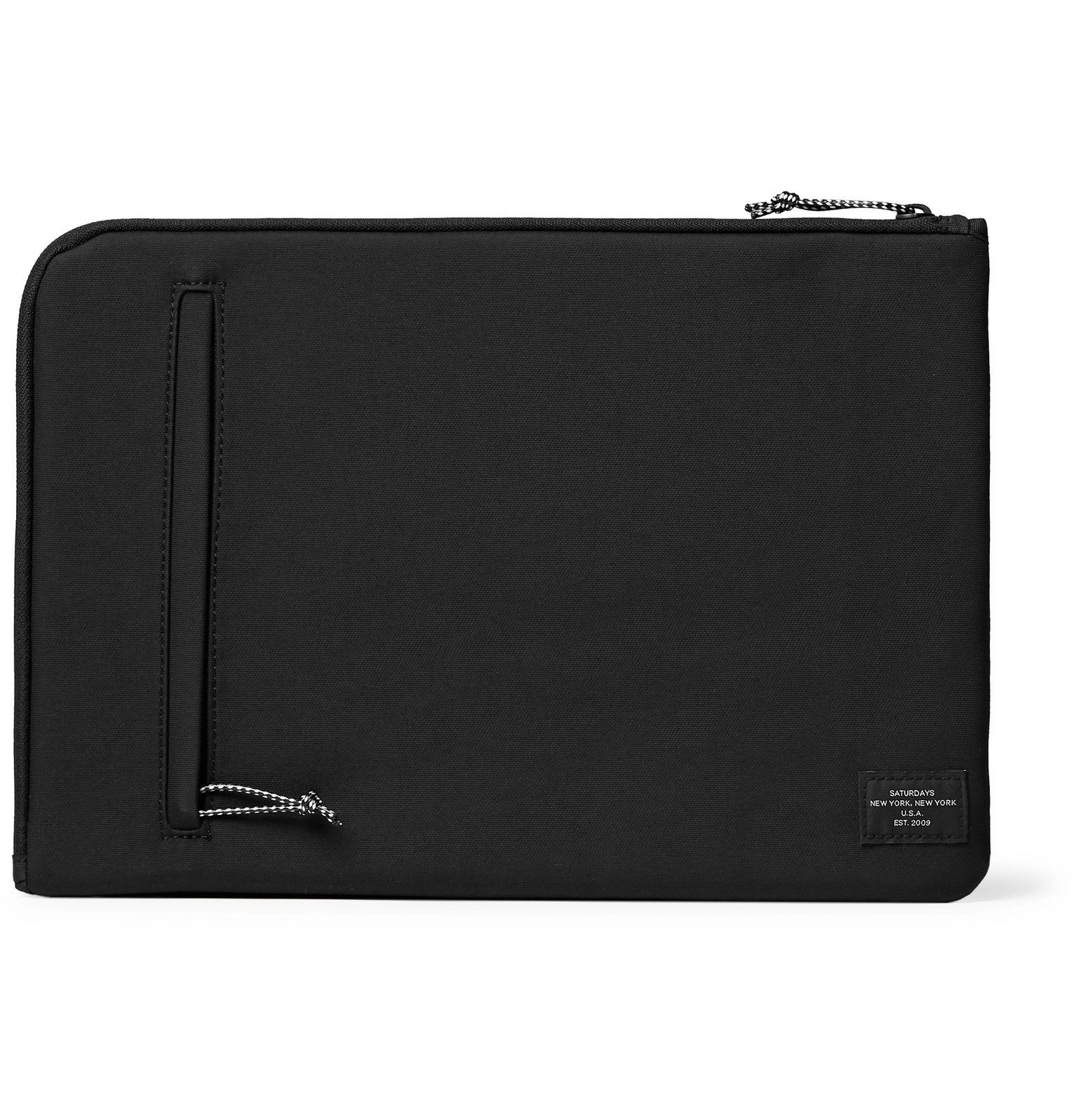 "Photo: Saturdays NYC - Logo-Print Nylon 13"" Laptop Case - Black"
