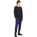3.1 Phillip Lim Black Logo Patch Long Sleeve Sweatshirt