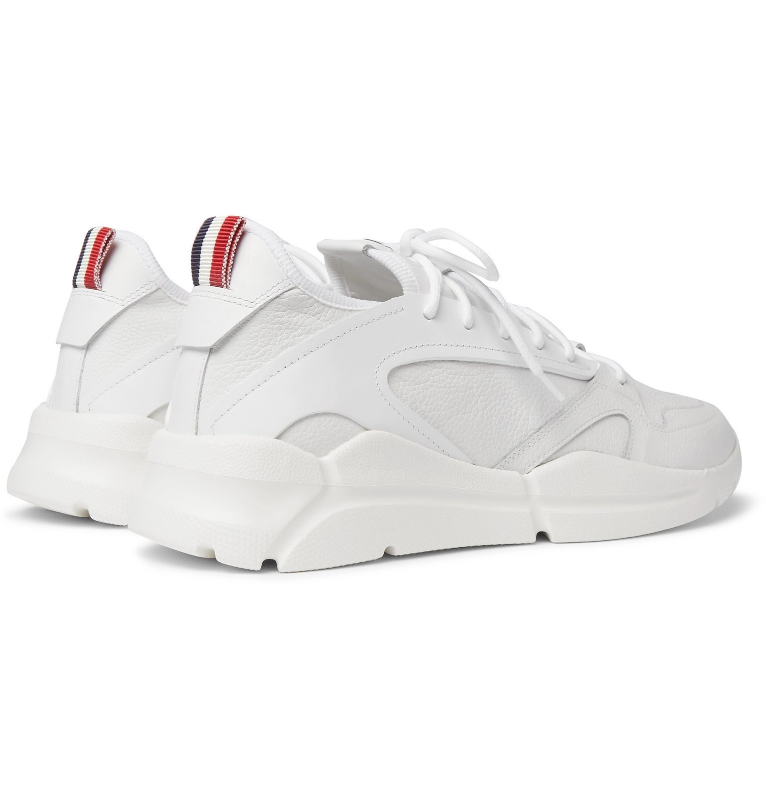 Moncler - Anakin Textured-Leather and Rubber Sneakers - White