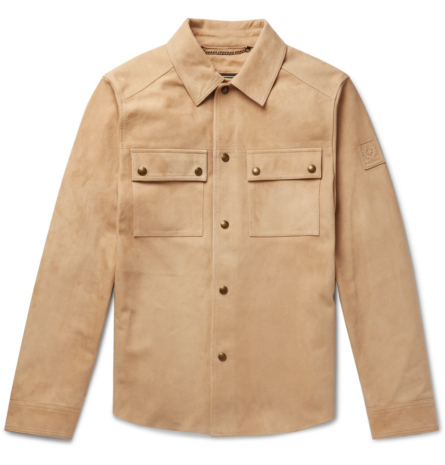 Photo: Belstaff - Malyon 2.0 Suede Overshirt - Neutrals