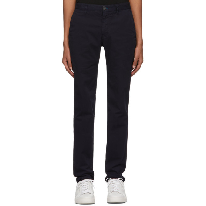 Photo: PS by Paul Smith Navy Slim-Fit Chinos
