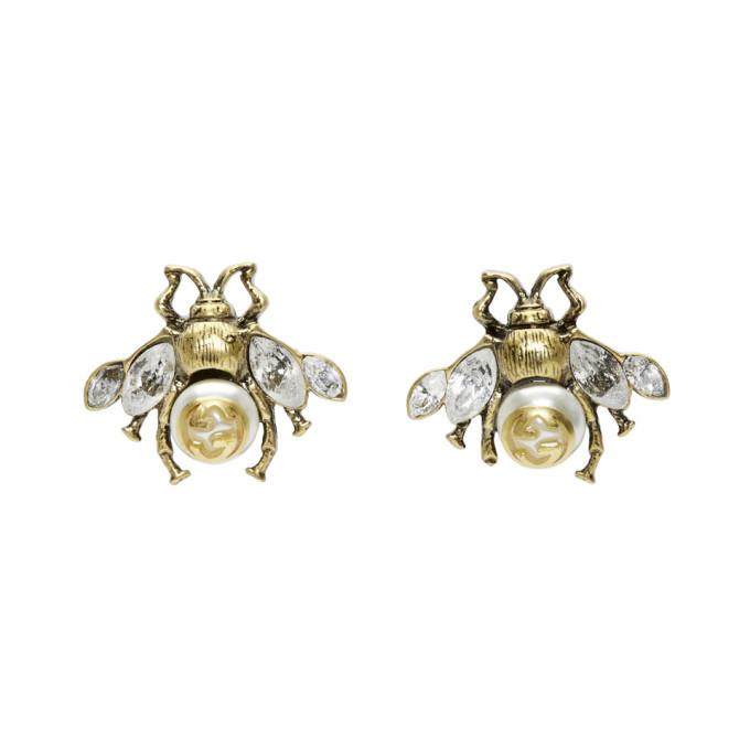 13c3f8166af Gucci Gold Bee Motif Earrings Gucci