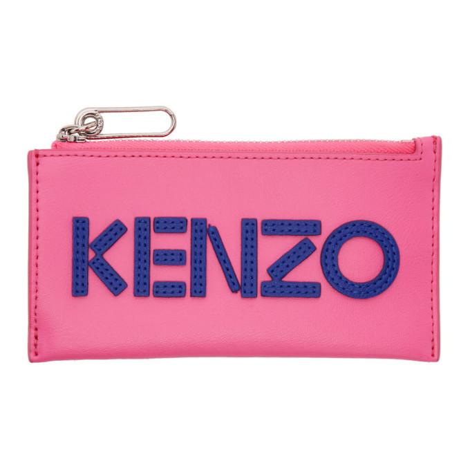Photo: Kenzo Pink Logo Zip Card Holder