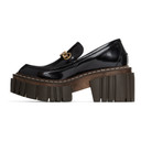 Stella McCartney Black Shiny Platform Loafers