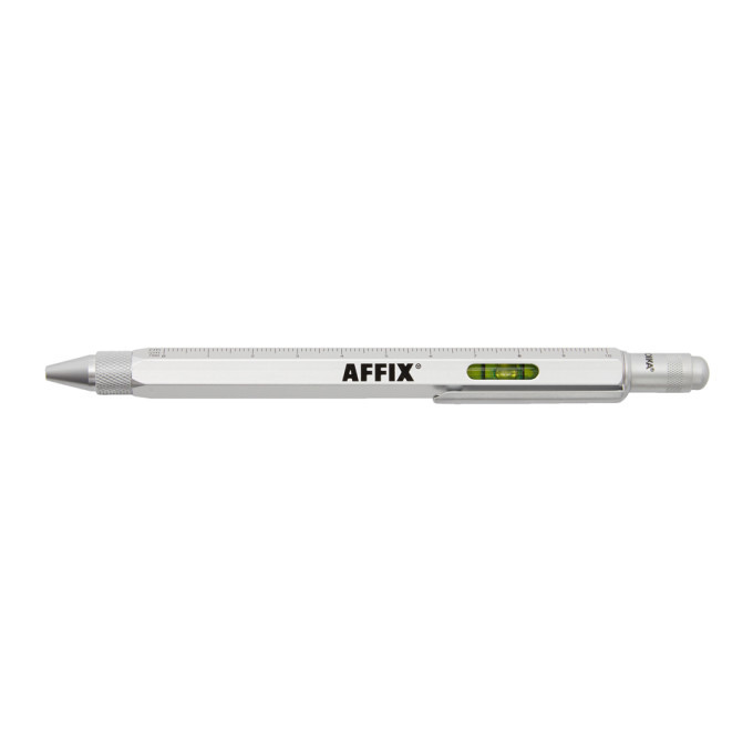 Photo: Affix Silver Trokia Edition Architectural Multi-Tool Ballpoint Pen