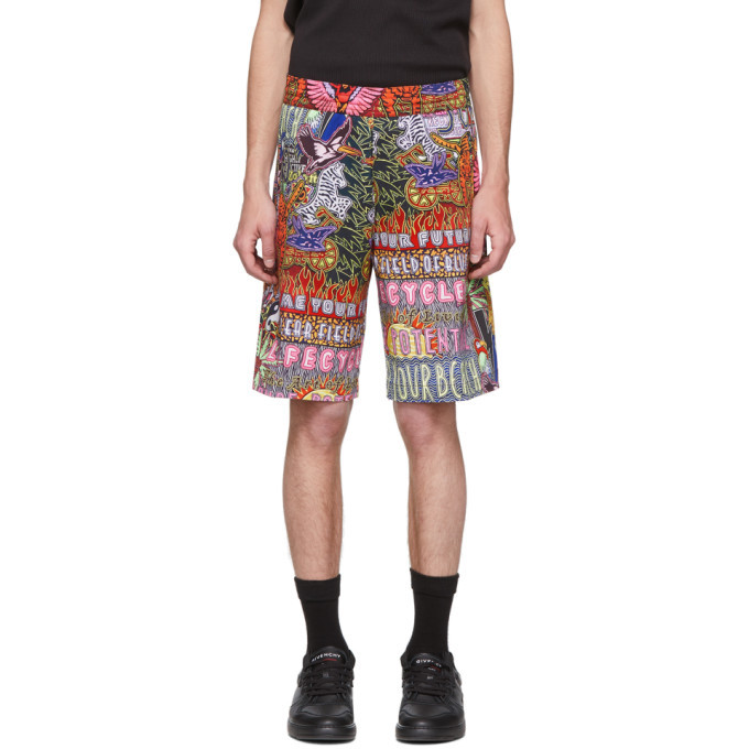 Photo: Neil Barrett Multicolor Oversized Workwear Shorts