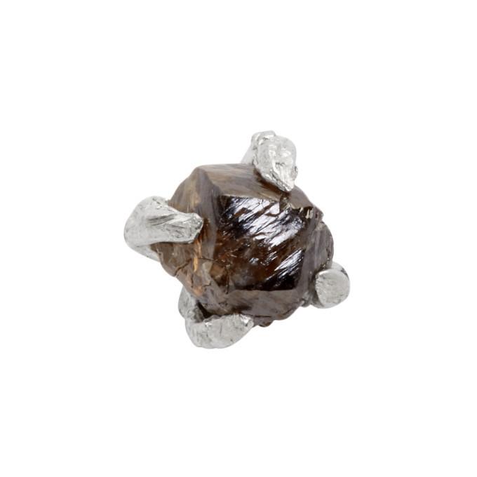 Photo: Pearls Before Swine Silver Raw Black Diamond Stud Earring