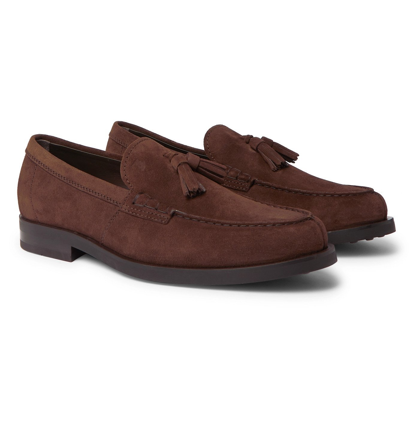 Photo: Tod's - Suede Tasseled Loafers - Brown