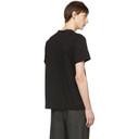Sacai Black Button Collar T-Shirt