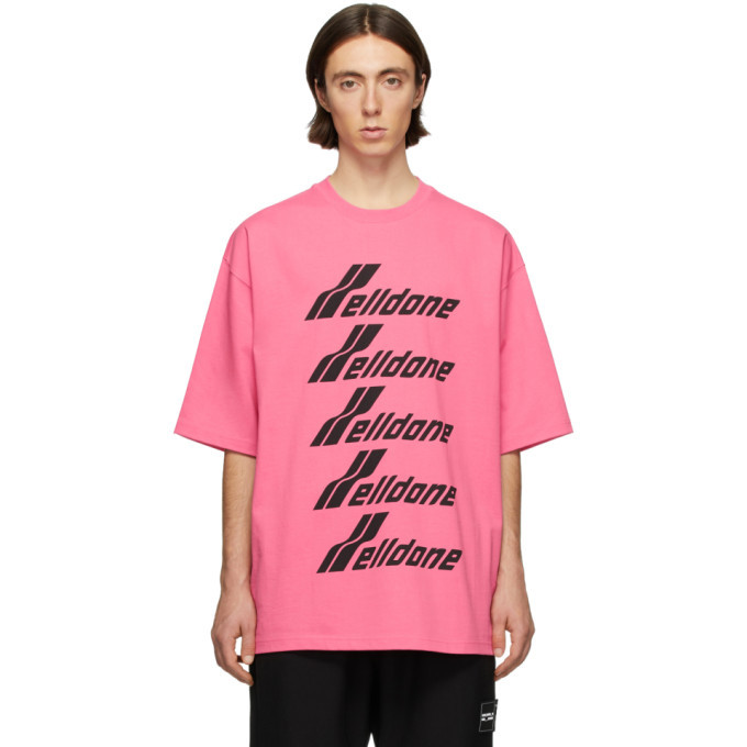 Photo: We11done Pink and Black Logo T-Shirt