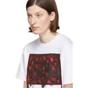 Raf Simons White Slim Pierced Mouth T-Shirt