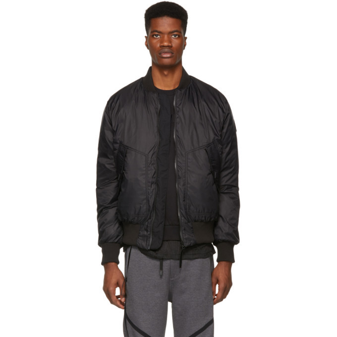 Photo: Canada Goose Reversible Black and Green Down Fraser Bomber Jacket