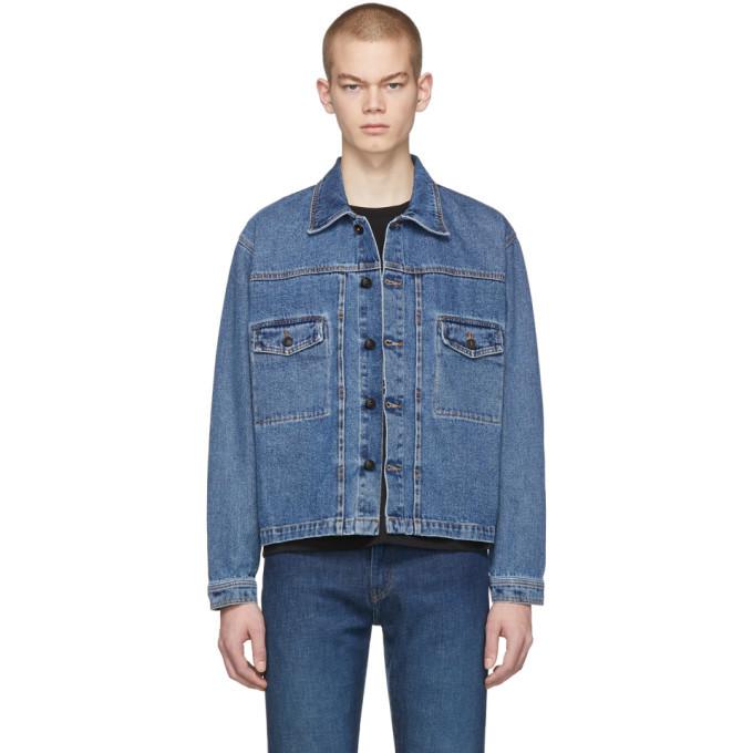Photo: Second/Layer Blue Denim Trucker Jacket