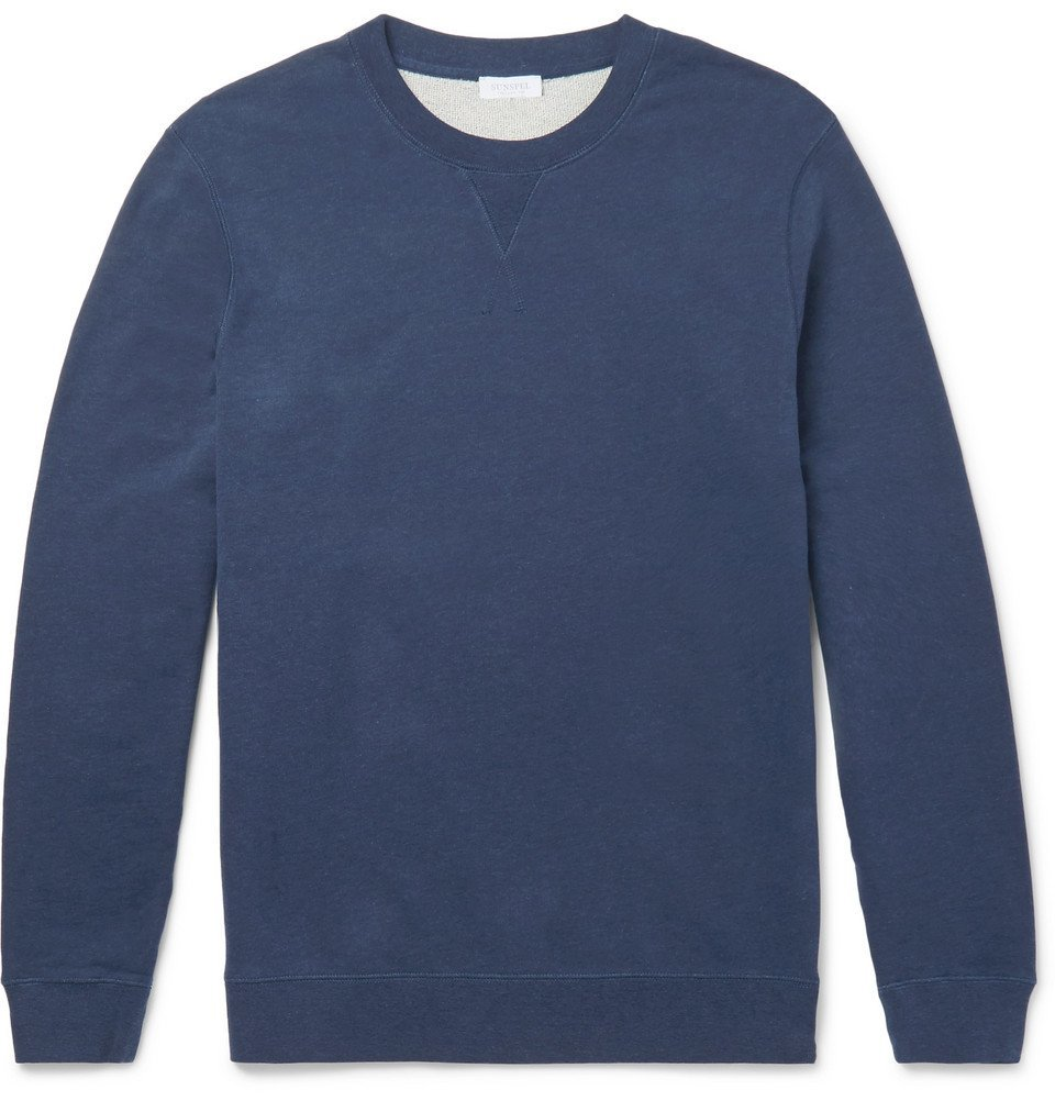 Sunspel - Brushed Loopback Cotton-Jersey Sweatshirt - Men - Navy