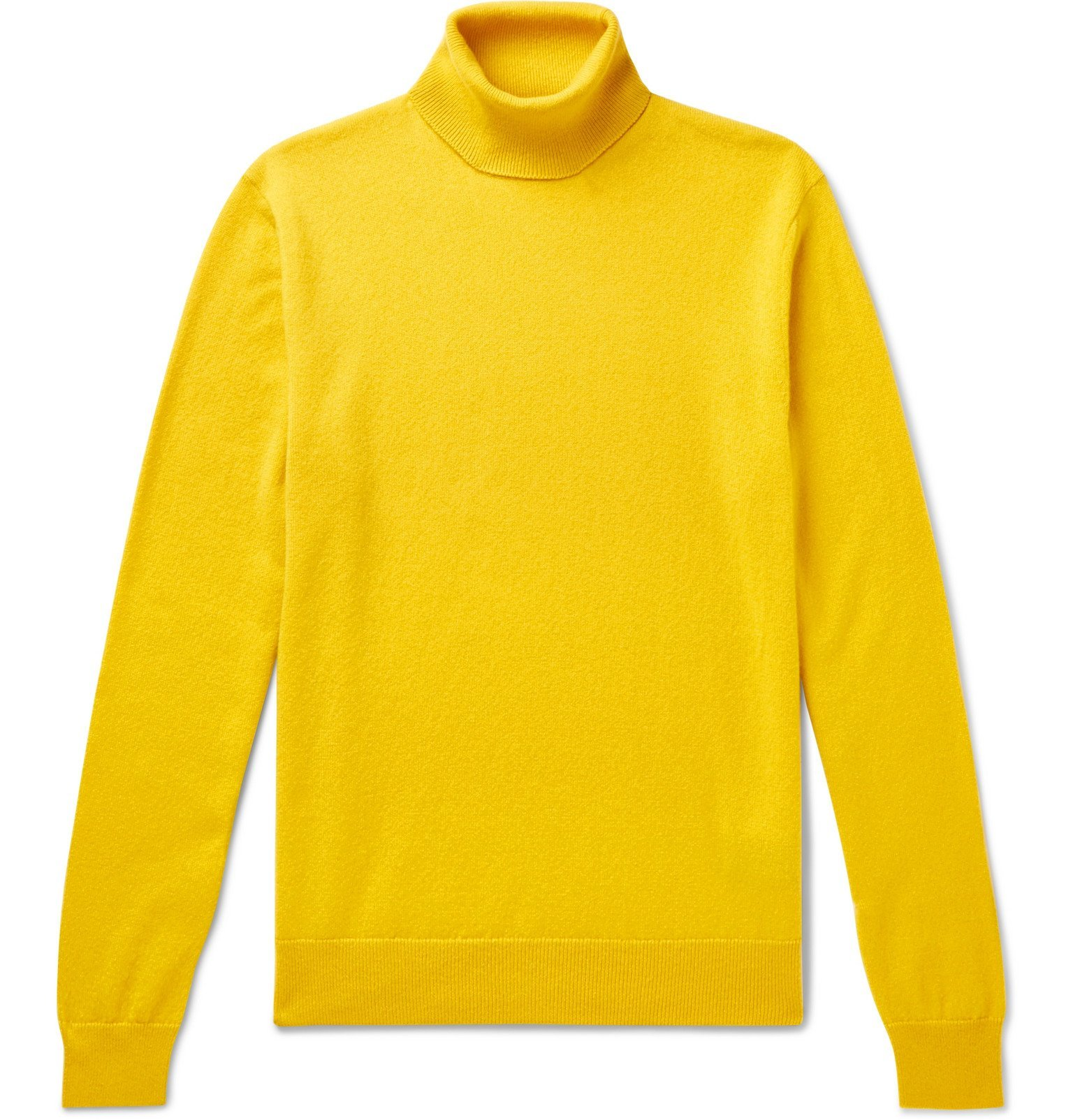 Photo: Ralph Lauren Purple Label - Slim-Fit Cashmere Rollneck Sweater - Yellow