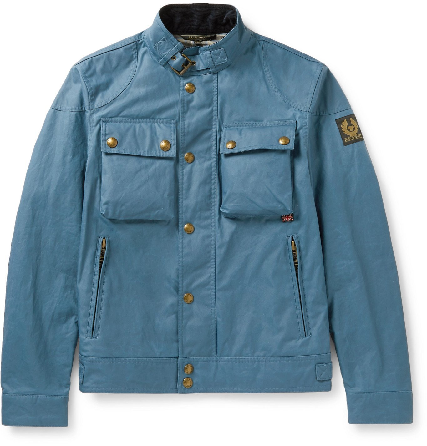 Photo: BELSTAFF - Racemaster Waxed-Cotton Jacket - Blue