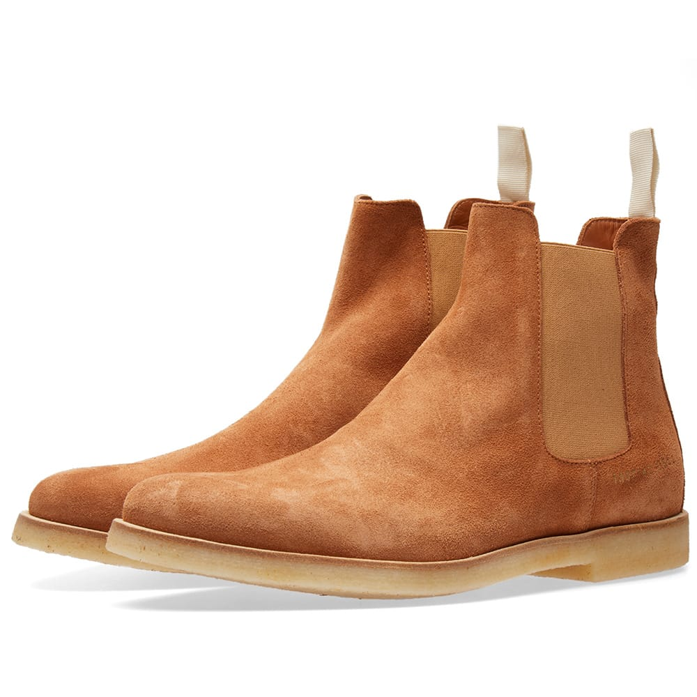 Photo: Common Projects Chelsea Boot Suede Burgundy