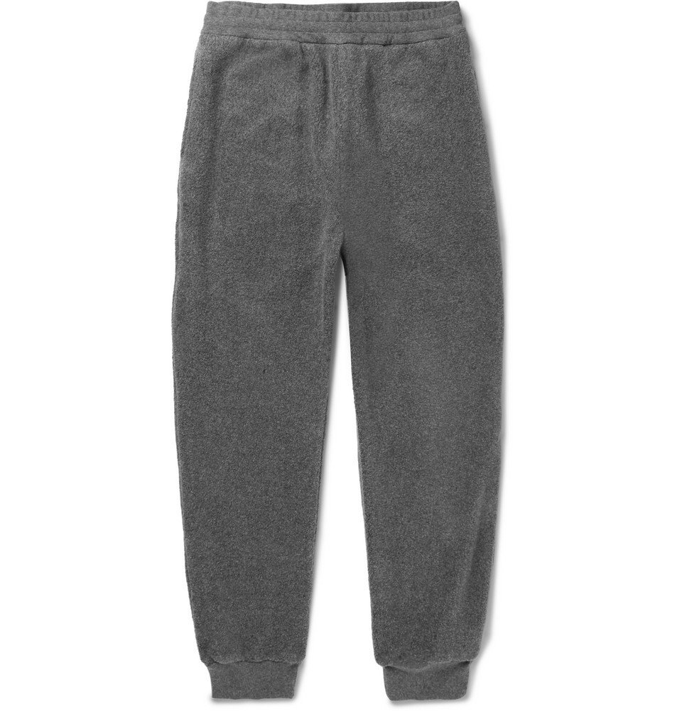 Photo: Stella McCartney - Ivan Tapered Mélange Stretch-Cotton Fleece Sweatpants - Gray