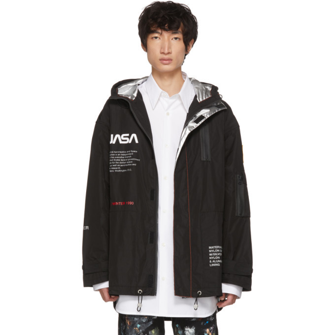 Photo: Heron Preston Black High Tech Parka